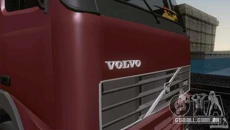 Volvo FH12 para GTA San Andreas vista interior