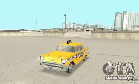 Chevrolet Bel Air 4-door Sedan Taxi 1957 para GTA San Andreas esquerda vista
