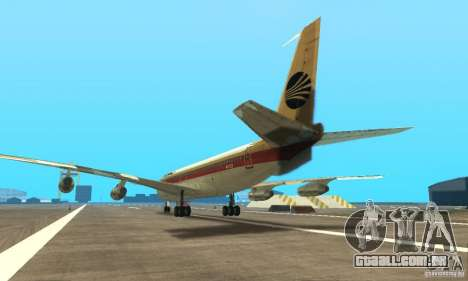 Boeing 707-300 para GTA San Andreas esquerda vista