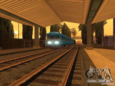 Unity Station para GTA San Andreas por diante tela