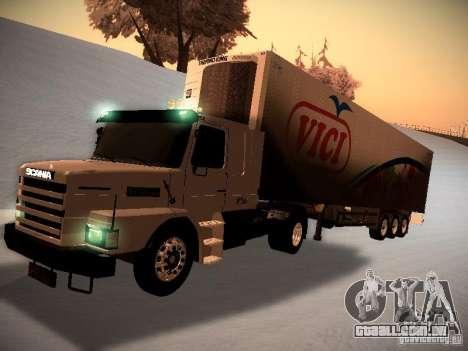 Scania T112 para GTA San Andreas esquerda vista