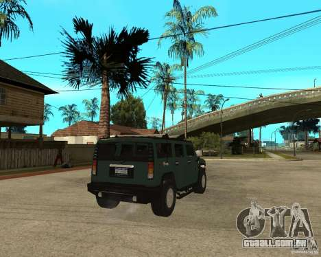 AMG H2 HUMMER SUV para GTA San Andreas traseira esquerda vista