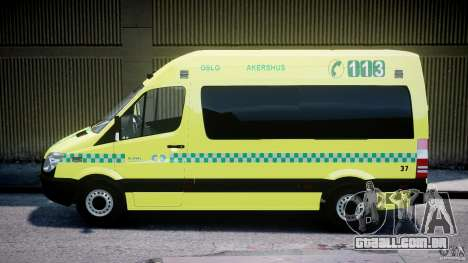 Mercedes-Benz Sprinter PK731 Ambulance [ELS] para GTA 4 esquerda vista