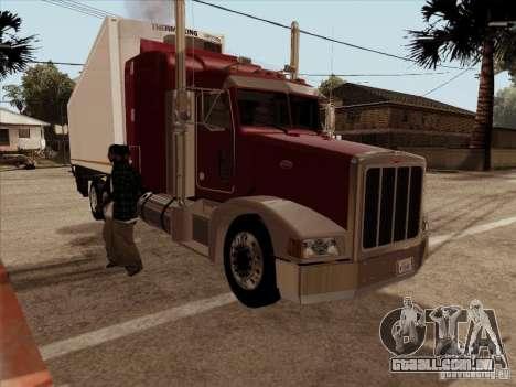 Peterbilt 377 para GTA San Andreas traseira esquerda vista