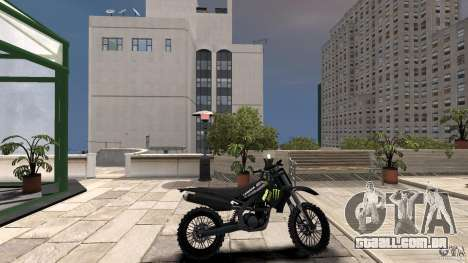 Yamaha YZFM 450 Monster Energy para GTA 4 esquerda vista
