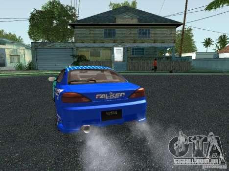 Nissan Silvia S15 Tunable para GTA San Andreas vista inferior