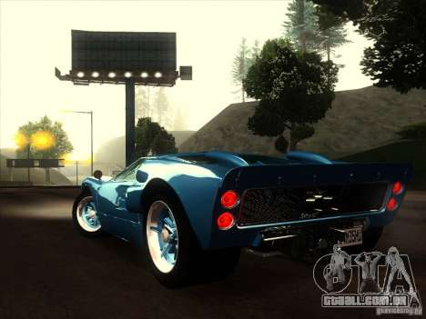 Ford GT40 1966 para GTA San Andreas vista interior