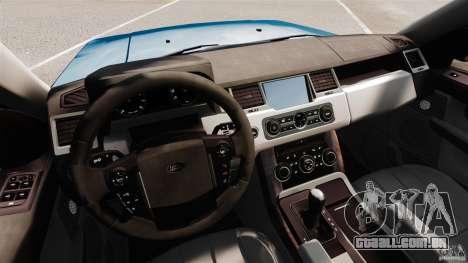 Land Rover Range Rover Sport HSE 2010 para GTA 4 vista de volta