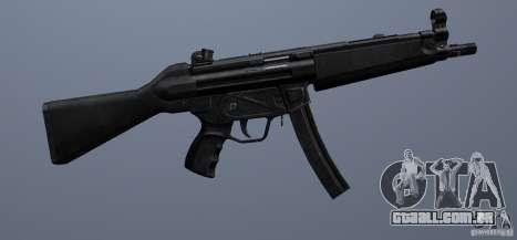 MP5 para GTA San Andreas por diante tela