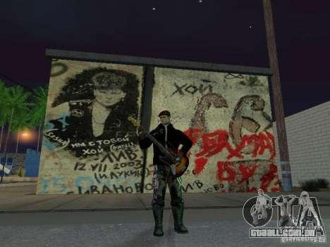 Parede da lembrança George Hoey para GTA San Andreas terceira tela