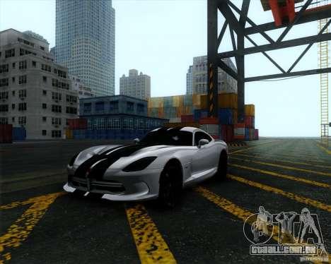 Dodge Viper SRT 2013 para GTA San Andreas vista traseira