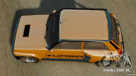 Renault 5 Turbo para GTA 4 vista direita