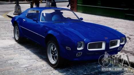 Pontiac Firebird Esprit 1971 para GTA 4 vista superior