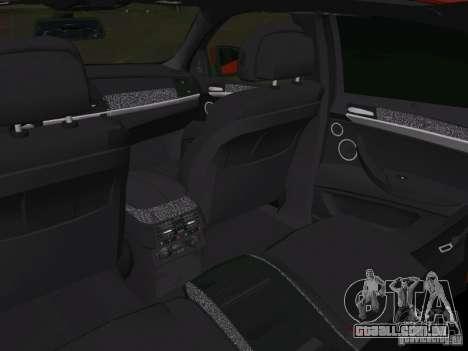 BMW X6M para GTA Vice City vista inferior