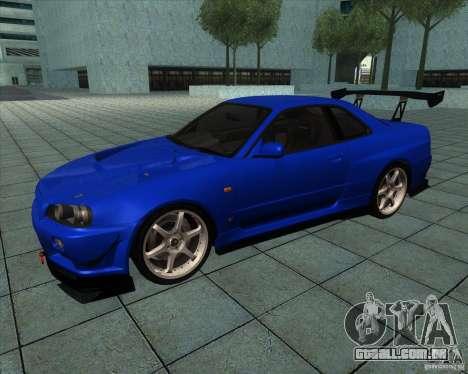 Nissan Skyline R-34 GT-R M-spec Nur para GTA San Andreas
