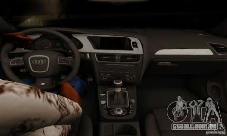 Audi S4 2010 para GTA San Andreas vista interior