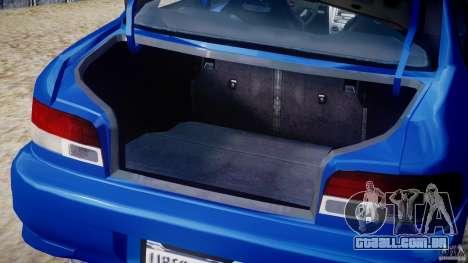 Subaru Impreza WRX STI 1999 v1.0 para GTA 4 vista lateral