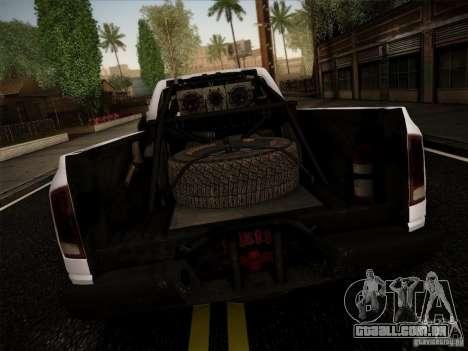 Dodge Ram 1500 4x4 para GTA San Andreas traseira esquerda vista