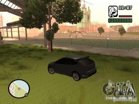 Ford Focus RS 2009 para GTA San Andreas vista direita