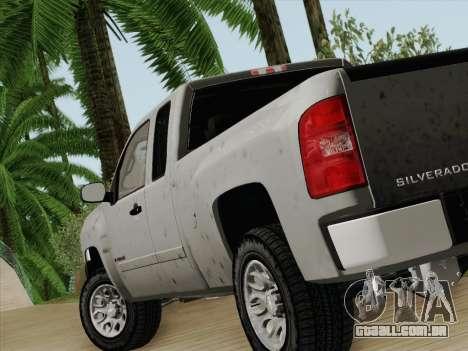 Chevrolet Silverado 2500HD 2013 para GTA San Andreas traseira esquerda vista
