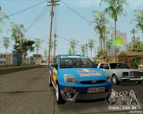 Ford Fiesta ST Rally para GTA San Andreas esquerda vista