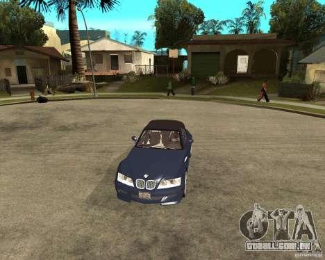 BMW Z3 Roadster para GTA San Andreas vista traseira