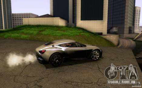 Aston Martin Zagato V12 V1.0 para vista lateral GTA San Andreas