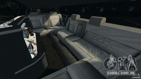 Lincoln Town Car Limousine 2006 para GTA 4 vista interior