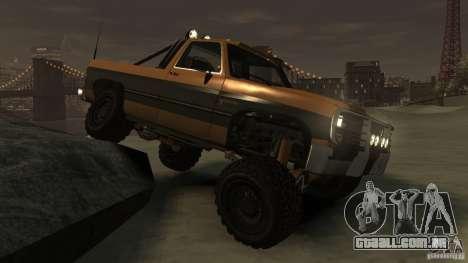 Rancher XL 3.0 para GTA 4 vista de volta