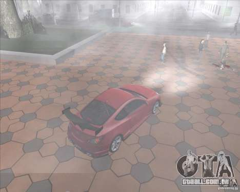 Hyundai Genesis Coupe para GTA San Andreas vista interior