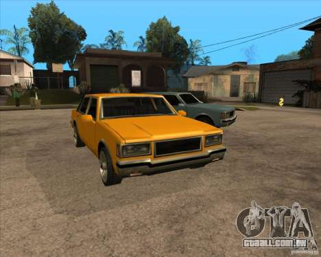 New Greenwood para GTA San Andreas vista traseira