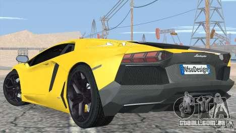 Lamborghini Aventador LP700-4 2012 para as rodas de GTA San Andreas
