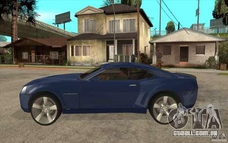 Chevrolet Camaro Concept Tunable para GTA San Andreas esquerda vista