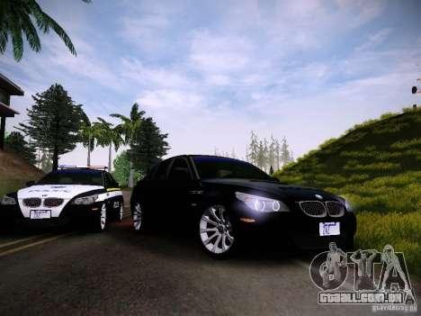 BMW M5 E60 Police para GTA San Andreas vista traseira