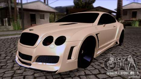 Bentley Continental GT Premier 2008 V2.0 para GTA San Andreas vista inferior