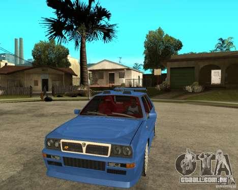 Lancia Delta Sparco para GTA San Andreas vista traseira