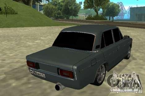 2106 Vaz para GTA San Andreas traseira esquerda vista