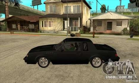 Buick Regal Grand National GNX para GTA San Andreas esquerda vista