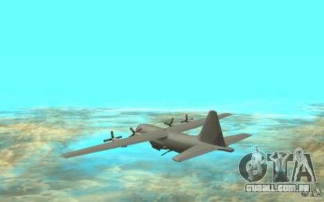 C-130H Spectre para GTA San Andreas traseira esquerda vista