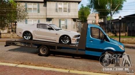 Mercedes-Benz Sprinter 3500 Car Transporter para GTA 4 esquerda vista