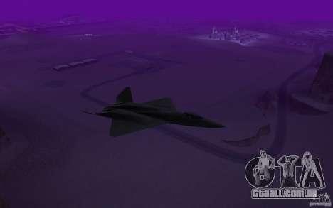 YF-23 para GTA San Andreas traseira esquerda vista