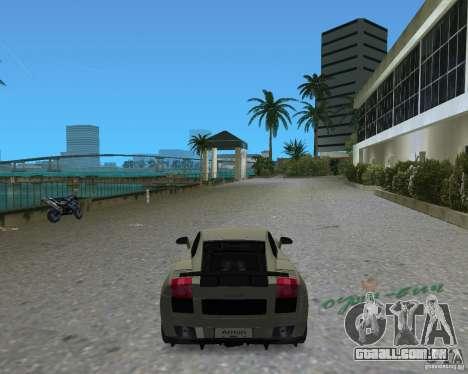 Lamborghini Gallardo Superleggera para GTA Vice City vista traseira esquerda