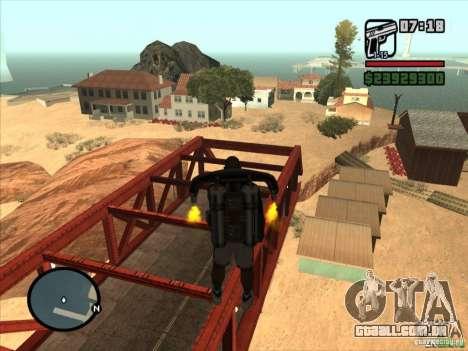 Jetpack spawner para GTA San Andreas terceira tela