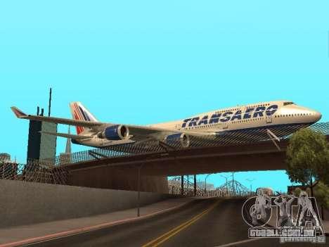 Boeing 747-400 para GTA San Andreas vista direita