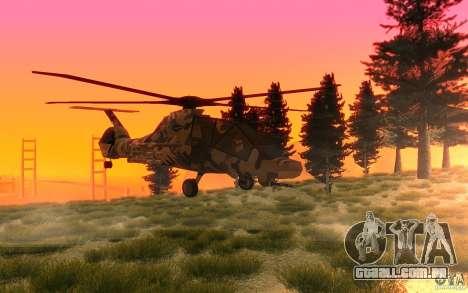 Sikorsky RAH-66 Comanche Camo para GTA San Andreas esquerda vista