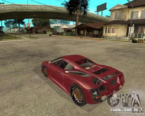 B-Engineering Edonis para GTA San Andreas esquerda vista