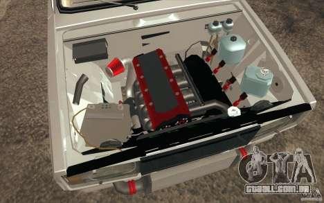 Drift Vaz Lada 2107 para GTA San Andreas vista inferior