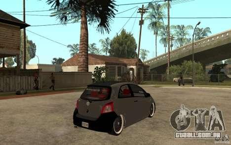 Toyota Yaris II Custom para GTA San Andreas vista direita