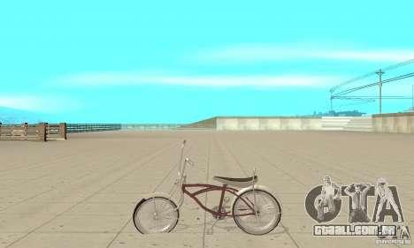 Lowrider Bicycle para GTA San Andreas esquerda vista