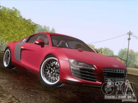 Audi R8 Hamann para vista lateral GTA San Andreas